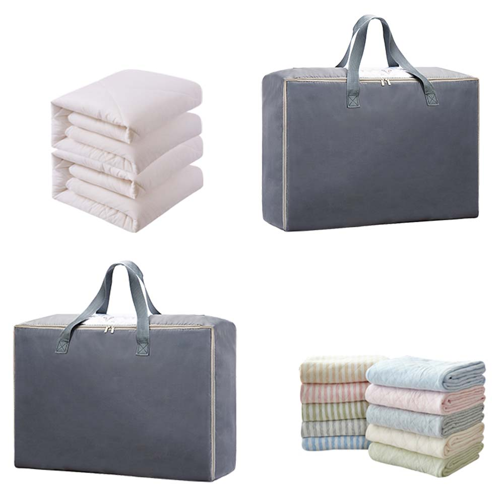 Large Oxford Storage Bag Quilt Bedding Duvet Laundry Organizer - Grey
