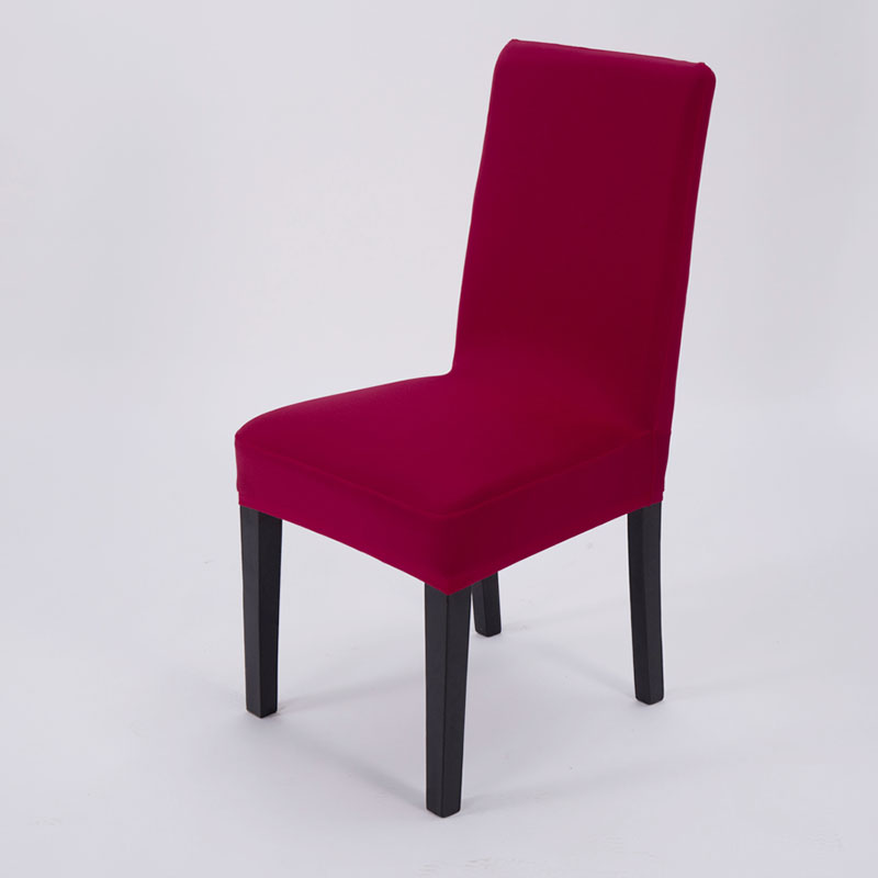 Universal Stretch Removable Hotel Chair Cover - Wine Red
