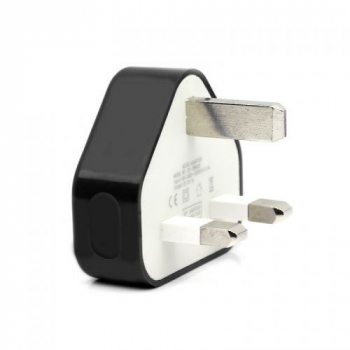 USB Charger Adapter UK Plug for iphone 5 6 Plus 6S Samsung HTC - Black