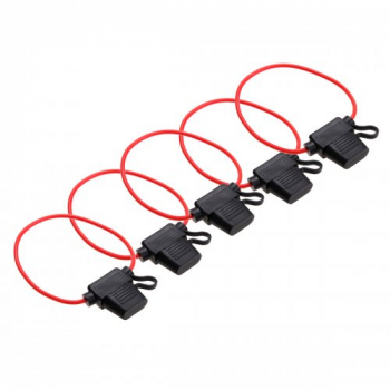 5 pcs Waterproof In Line Standard Blade Fuse Holder 12V 30A