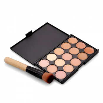 Z15-2 15 Colors Face Concealer with Makeup Brush