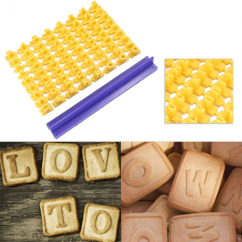 Alphabet Number Letter Cookie Biscuit Stamp Mold - Number