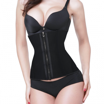 Body Shaper Latex Rubber Waist Trainer Underbust Body Shaper Corset Belt Size M - Black