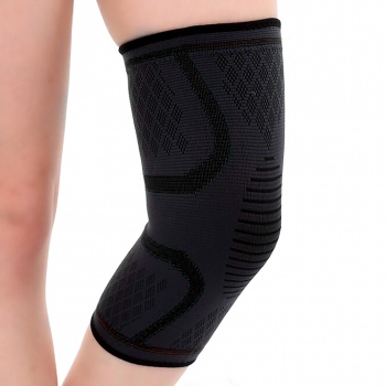 1 Pair Black Compression Knee Support Sleeve - XL
