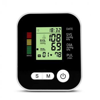 Digital Automatic Blood Pressure Monitor Meter