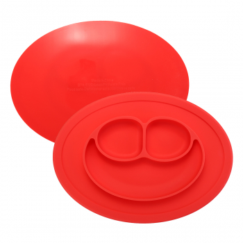 Baby Table Food Plate Cute Silicone Bowl - Red