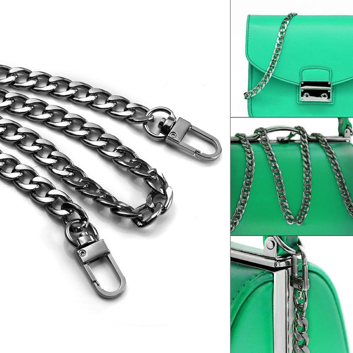 Metal Flat Chain Replacement Strap for Handbag - Black