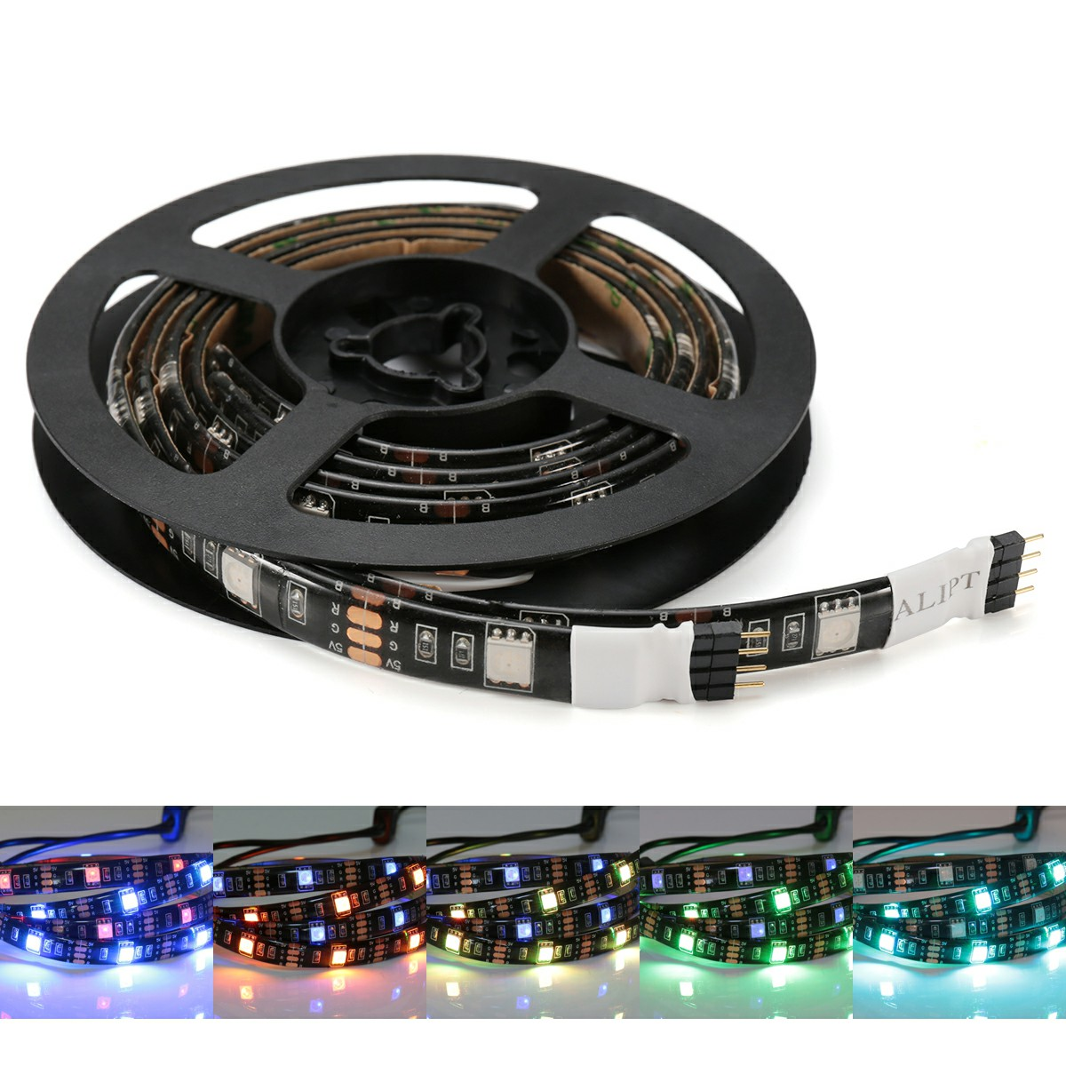 2pcs 50cm RGB 5V USB LED Lights Strip 5050 RGB Waterproof Light Band for PS4 PC TV