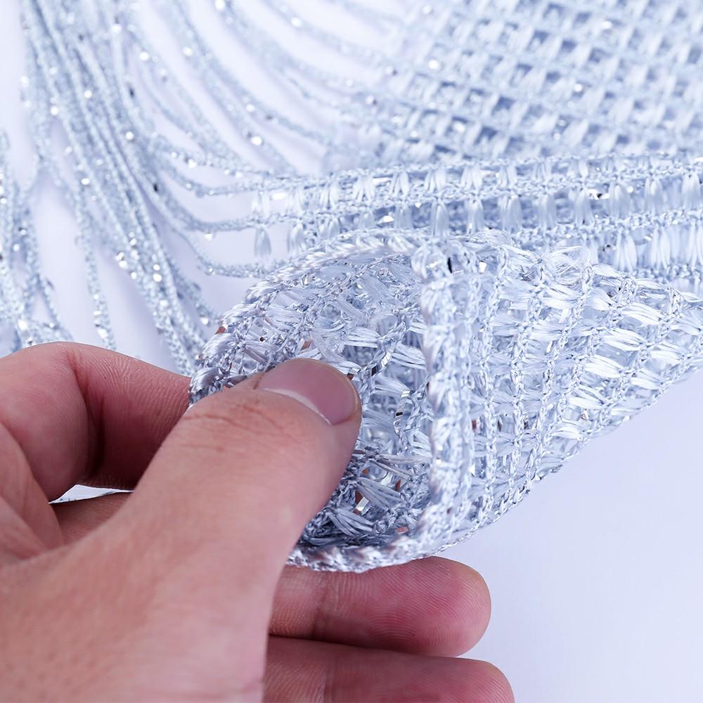 String Curtains Net Door Tassel Screen Windows Divider 100x200cm - Gray