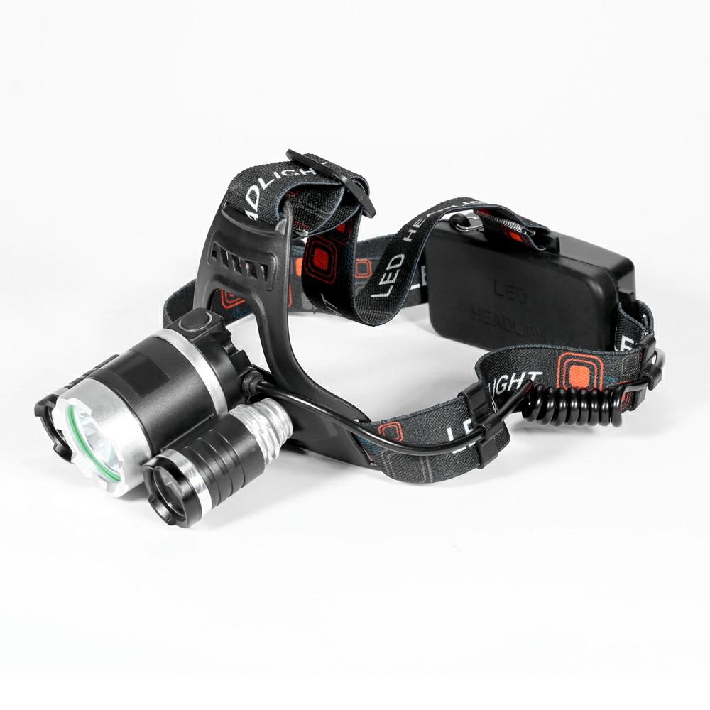 6000 LM Lumens 3 x XML CREE T6 LED Headlamp Lamp