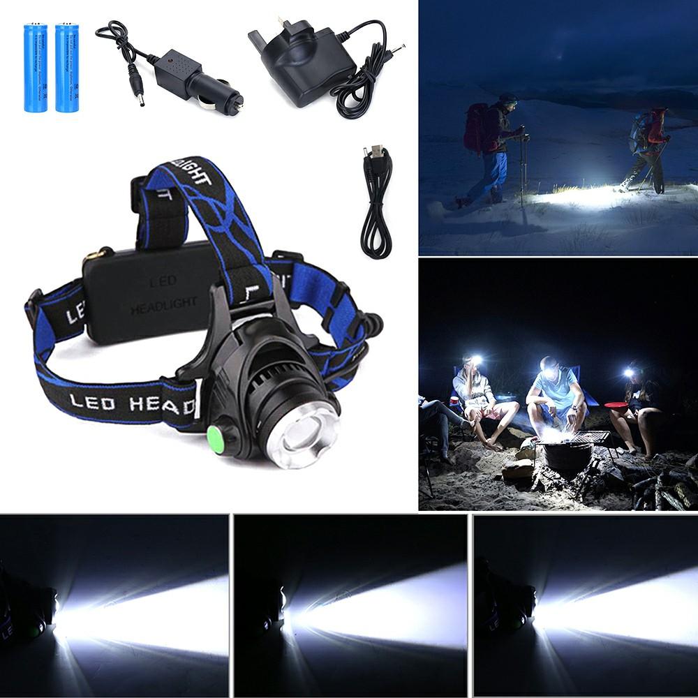 20000 Lumen XM-L T6 LED Zoom Headlamp