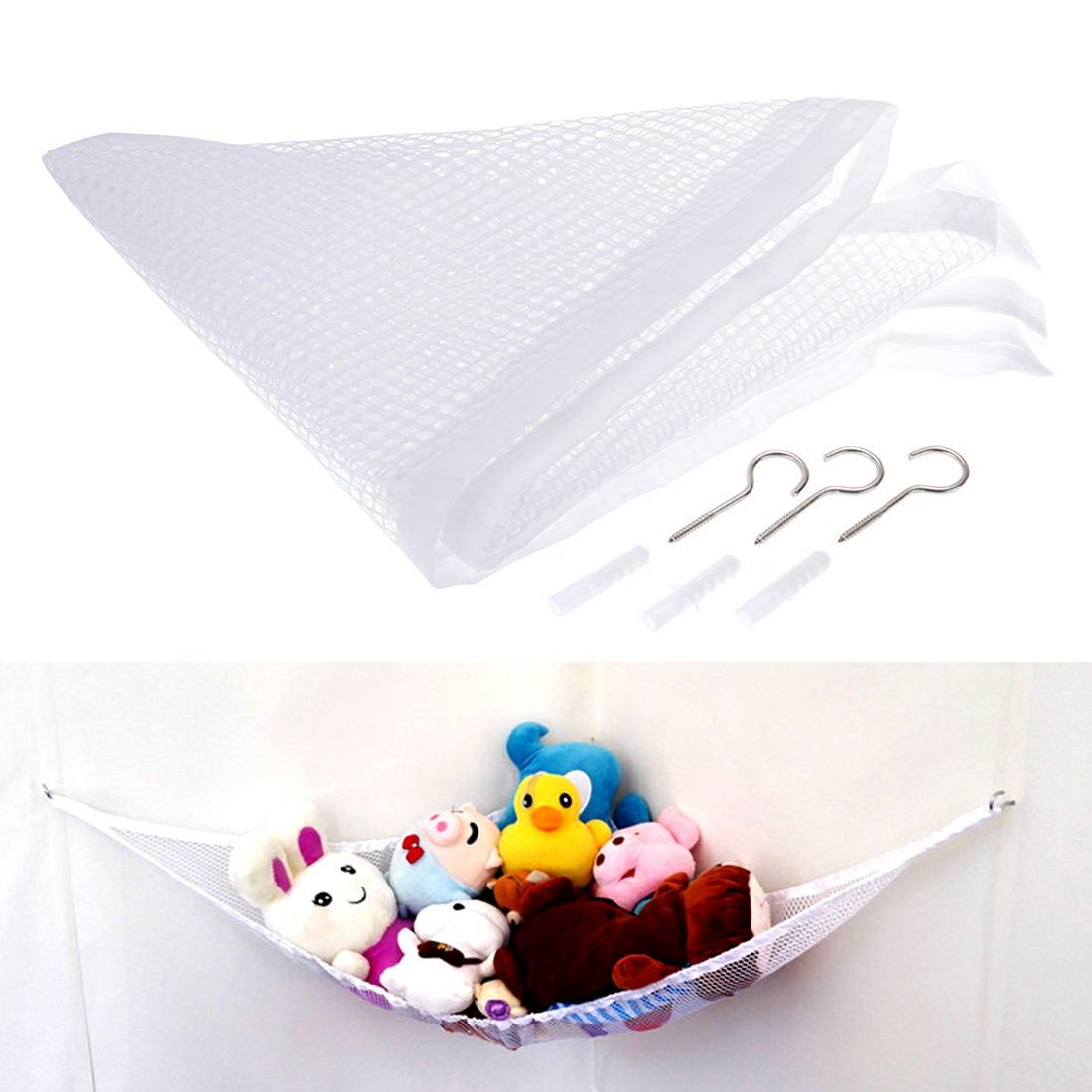 Large and Soft Hammock Mesh Baby Room Toy Tidy Net