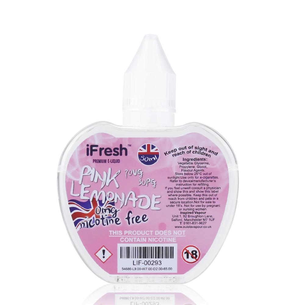50ml iFresh Premium E-liquid E-juice 0mg - Pink Lemonade