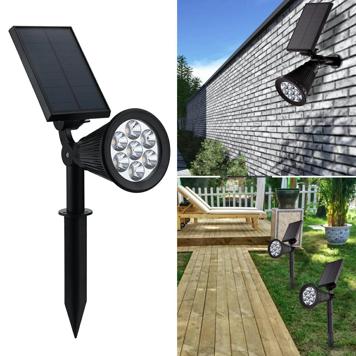 7 LED Discoloration Solar Lights Insert Floor Lawn Garden Lights