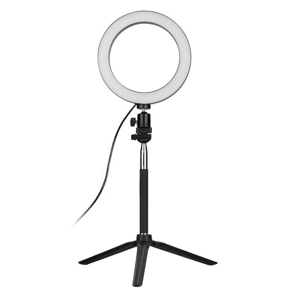 Dimmable LED Shooting Video Lamp + Tripod + Selfie Stick