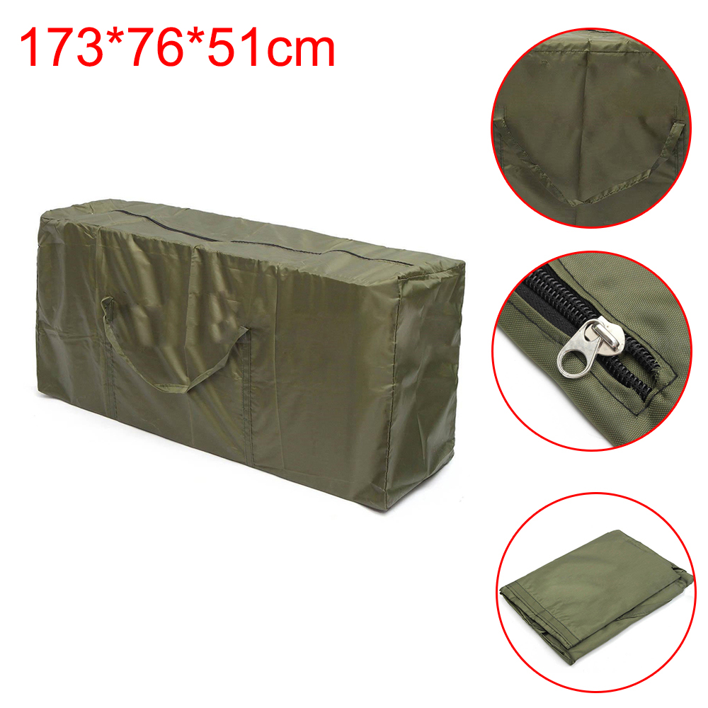 Waterproof Outdoor Furniture Cushion Storage Bag 210D Oxford Cloth - Army Green