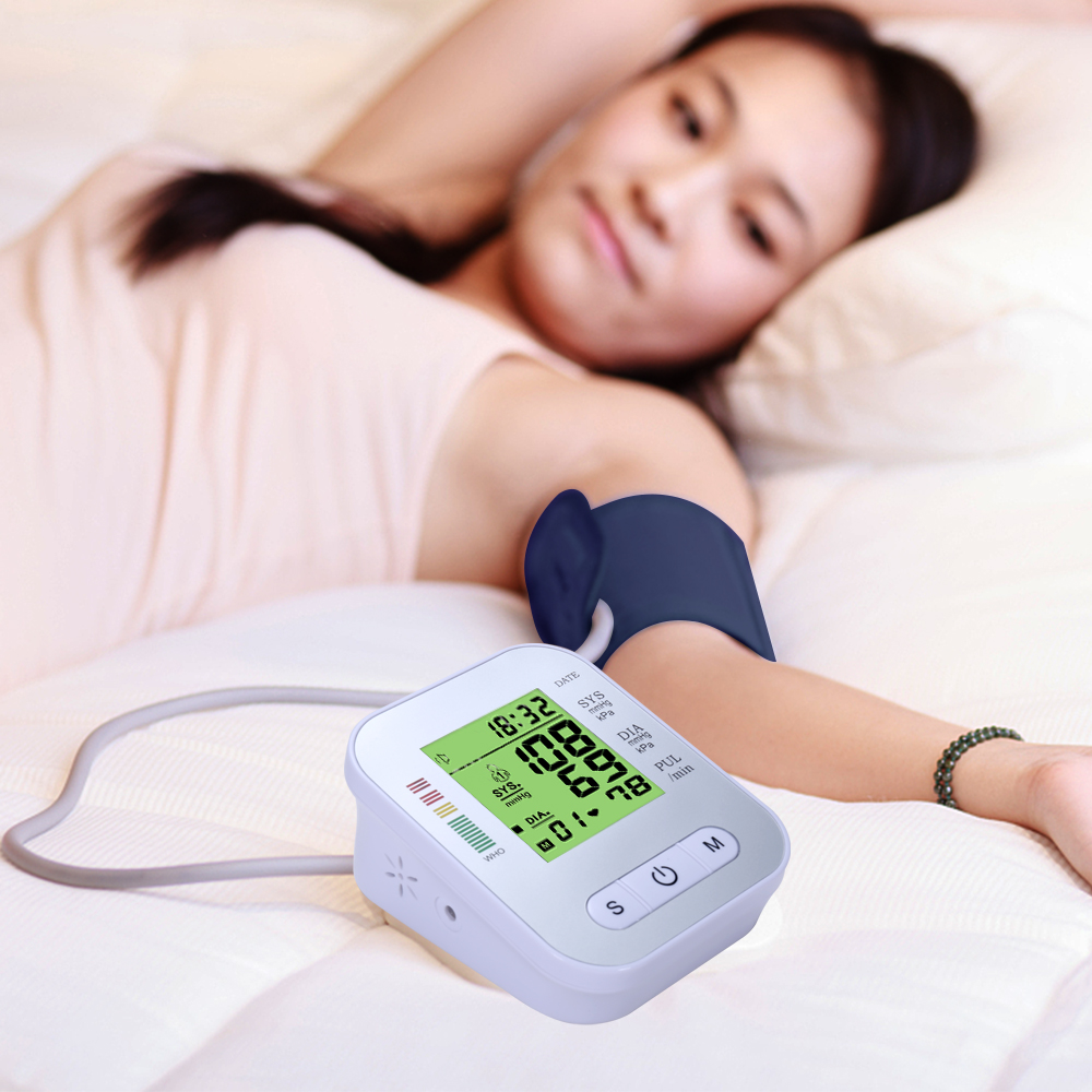 LCD Automatic Digital Blood Pressure Monitor Meter