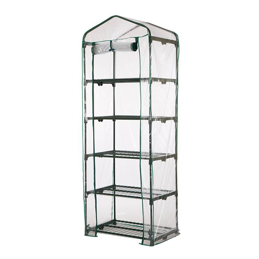 Greenhouse Grow Bag Transparent PVC Plastic Cover Garden Tools - 5 Tier