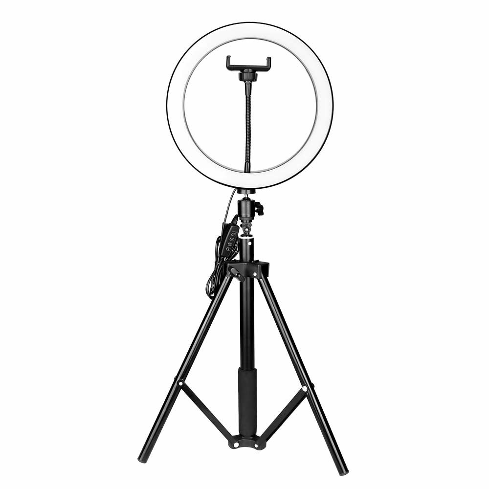 10 inch Dimmable LED Selfie Ring Light Kit for Makeup Youtube Video Live