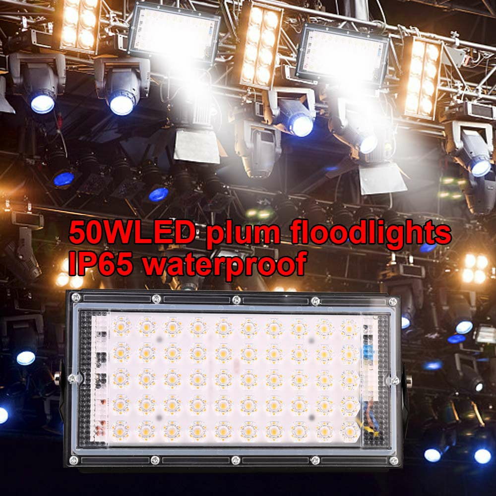LED Security Floodlight 50W Waterproof Security Lamps Warm Light