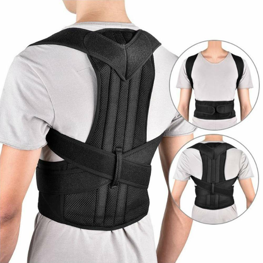 Posture Corrector Slouch Shoulder Corset Back Lumbar Brace - M