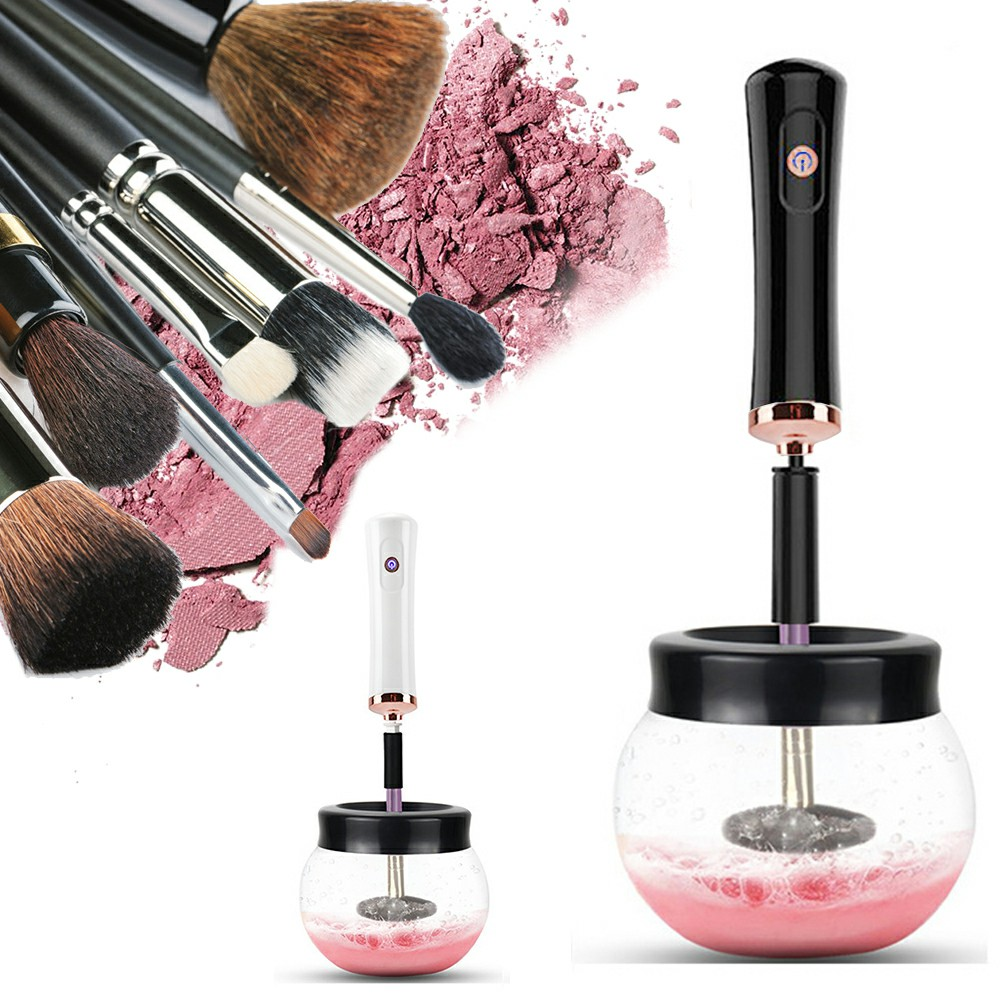 Electric Make up Brush Cleaner and Dryer Machine Quick Dry - Black