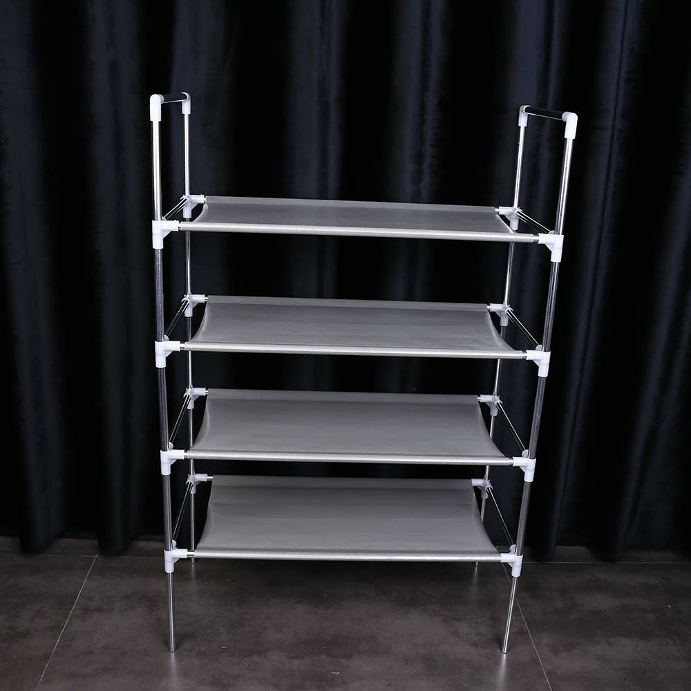 3/4/5 Tier Shelf Shoe Rack Nonwoven Shoes Storage Organiser for 12/15/18 Pairs of Shoes - 4 Tier