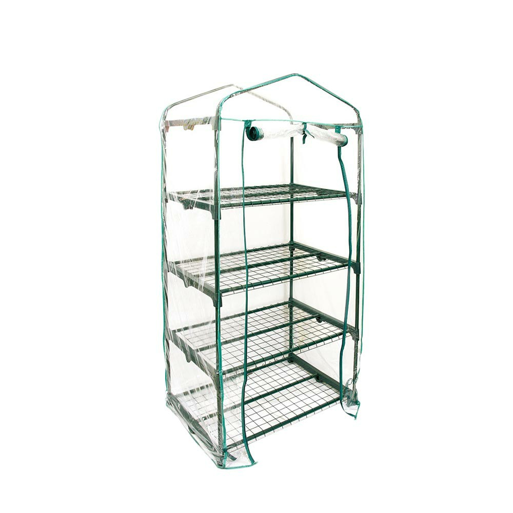 Greenhouse Grow Bag Transparent PVC Plastic Cover Garden Tools - 4 Tier