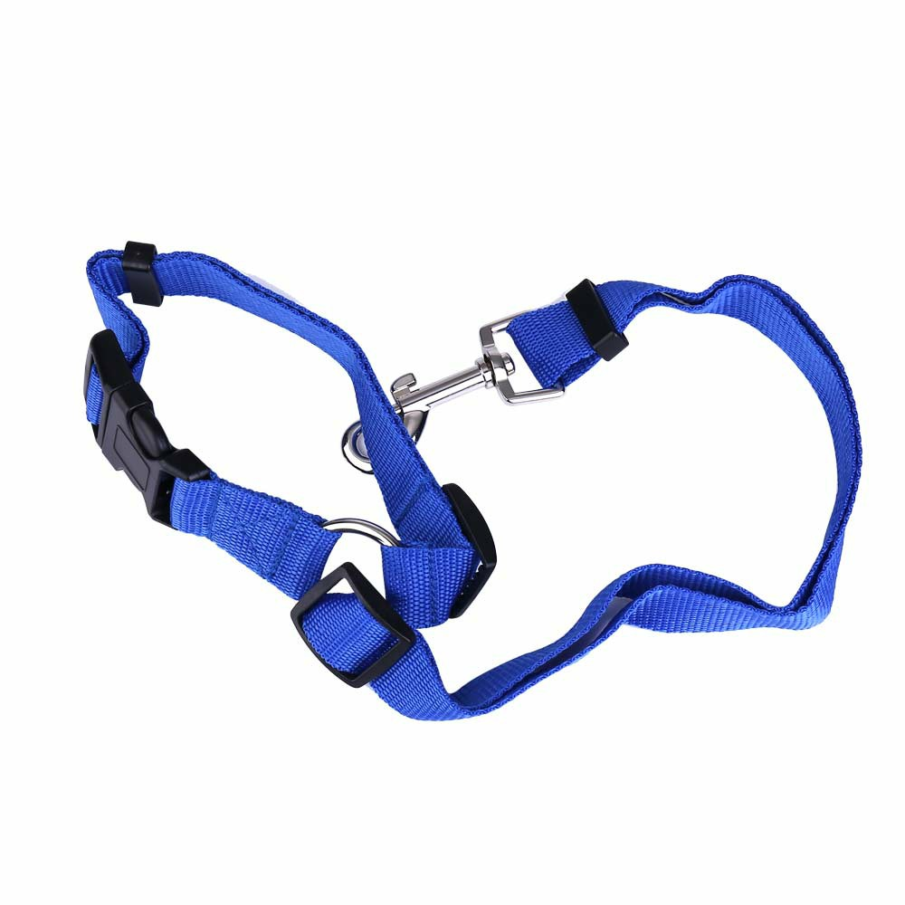 Pet Car Safety Seat Belt Harness Traction Rope - Dark Blue