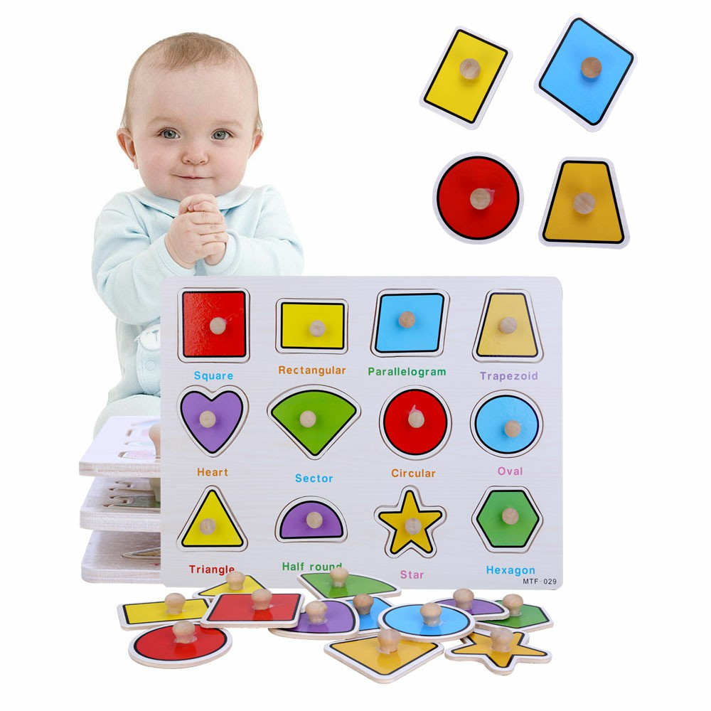 Early EducationKids Cognitive Board Letter Number Graphics Wooden Puzzle - Graphic