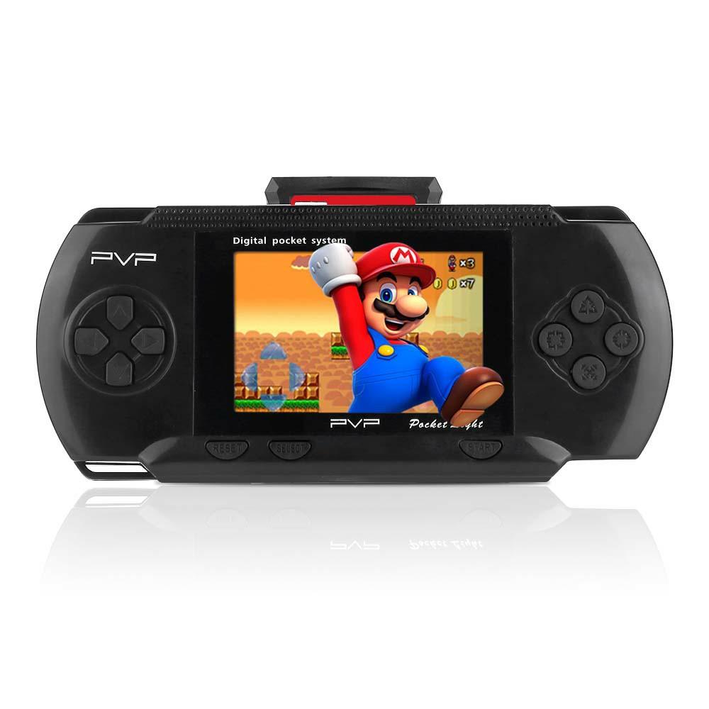 Handheld PXP PVP Classic Games Console Retro Megadrive DS Video Game - Black