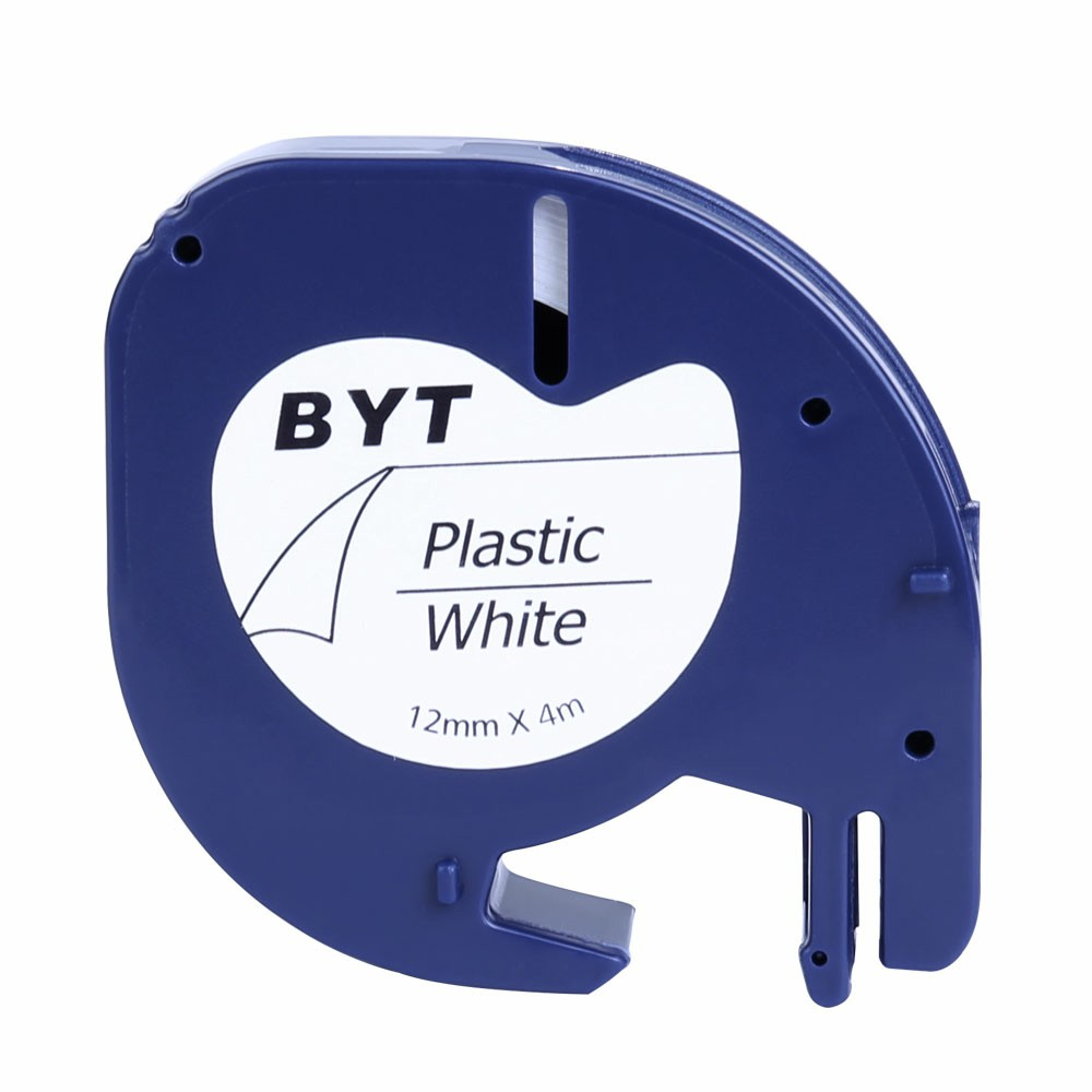Label Tapes Compatible for DYMO LT Printer 12MM - Black on White