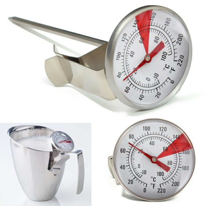 Milk Frothing Thermometer Coffee Maker Temperature Tester with Jug Clip