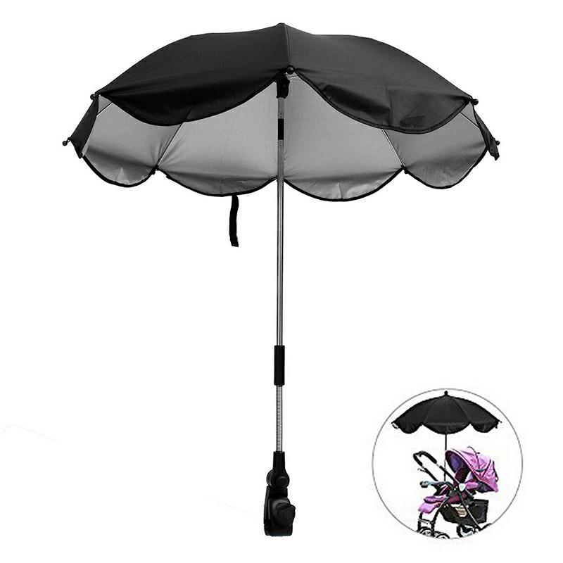 Universal Baby Stroller Parasol UV Ray Shade - Black