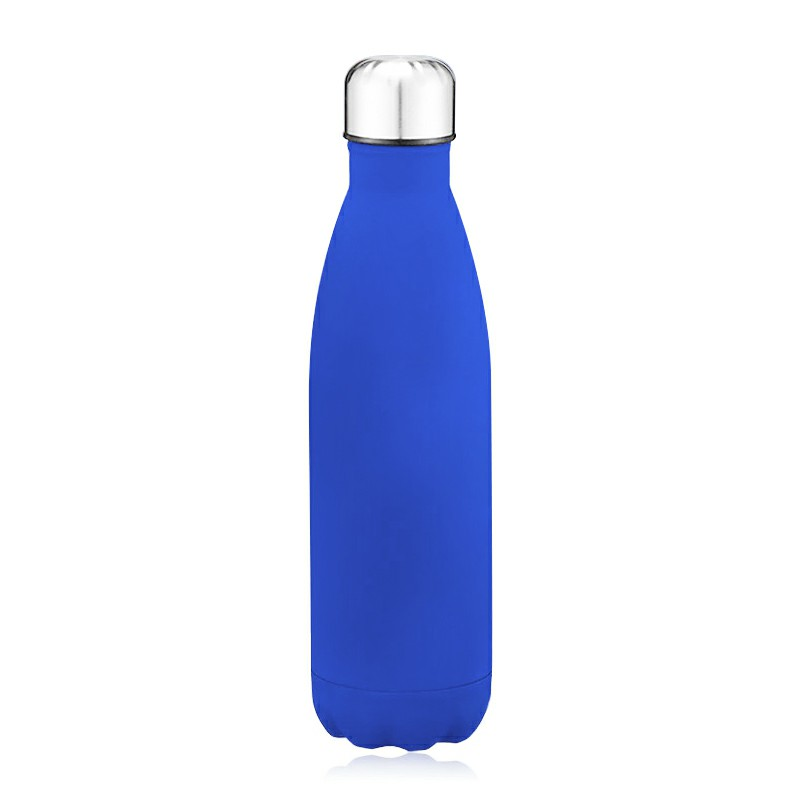Rubber Paint 500ML Stainless Steel Insulated Water Bottle - Matte Blue