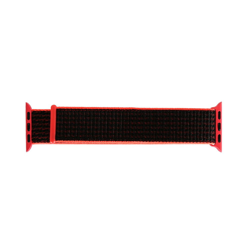 42mm Sports Nylon Watchband Bracelet for Apple Watch - Pink + Black