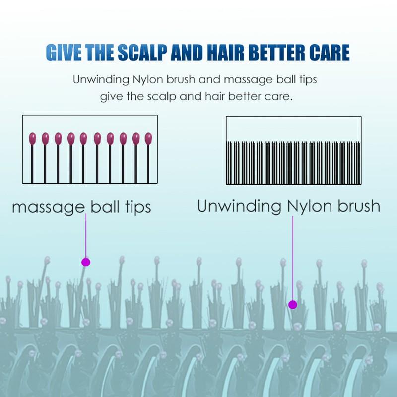 Multifunctional Salon One Step Hair Dryer Volumiser Hot Air Brush Comb + Massage Comb + Roll Comb UK