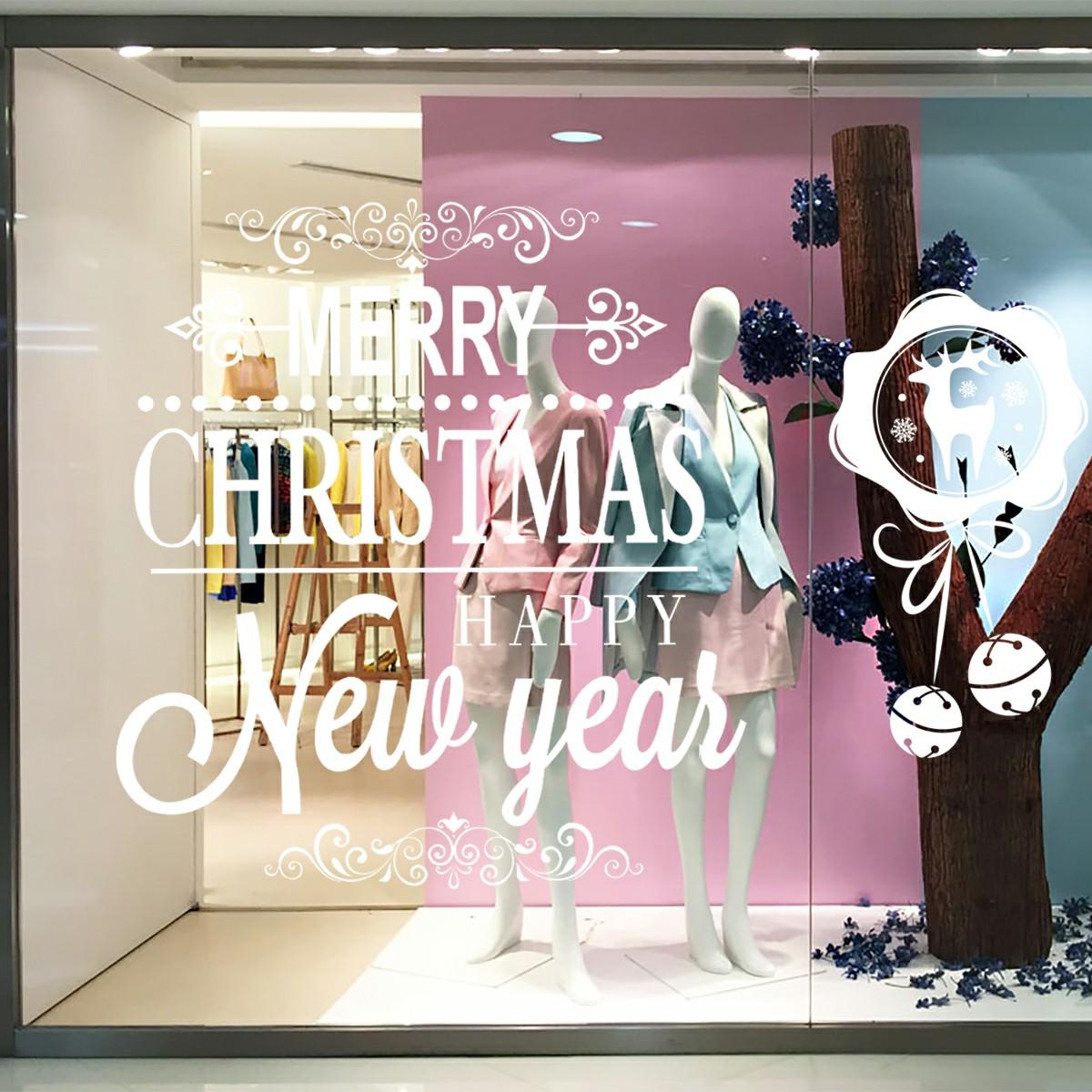 Christmas Xmas Aeolian Bells Shop Window Stickers