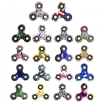 EDC Printed Tri-Spinner Fidget Stress Reducer Toy - Assorted colors