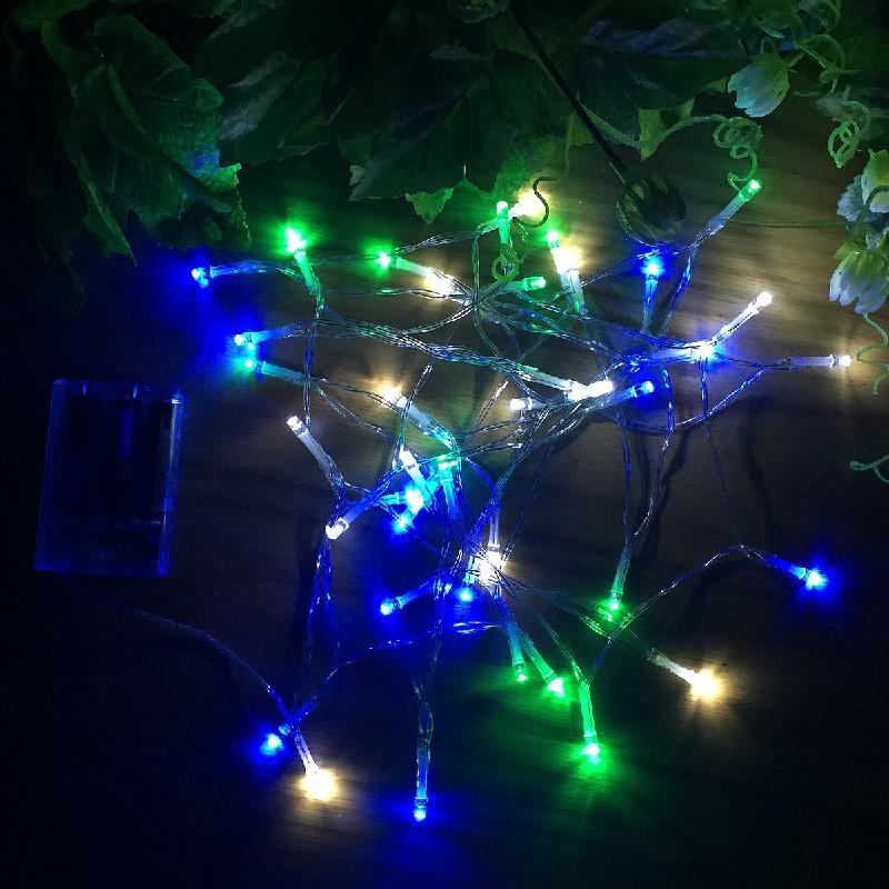 80 LEDs White Blue Green Light String for Christmas Wedding Xmas Party Decor