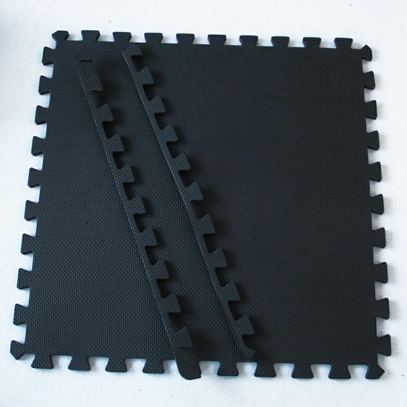 Baby EVA Foam Puzzle Play Mat Carpet 60x60x1.2 cm - Black