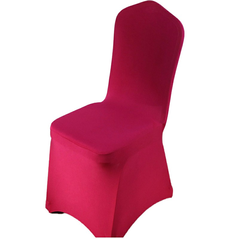 Full Cover Elastic Chair Cover Hotel Banquet Chair Cover - Wine Red