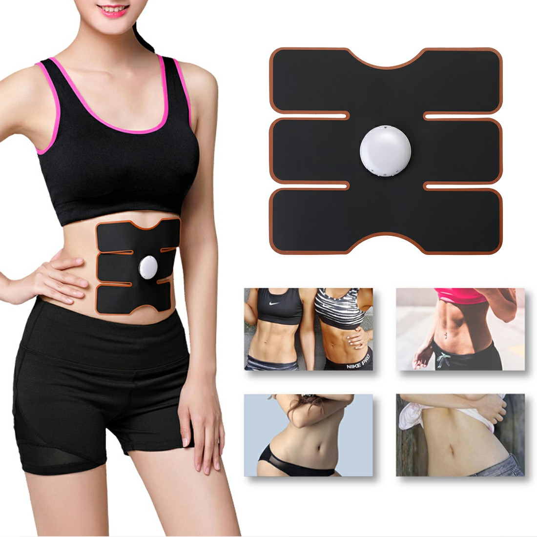 EMS Abdomen Muscle Stimulator Fitness Lifting Trainer Body Slimming Massage