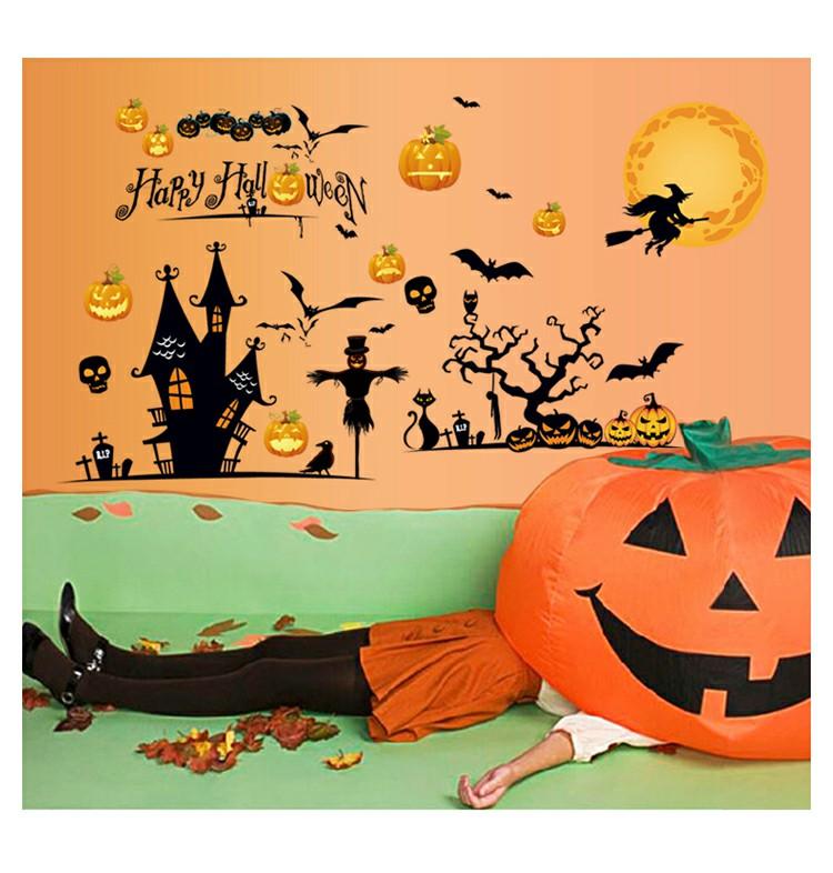 DIY Lovely Halloween Wall Sticker Glasses Wall Sticker - Bat