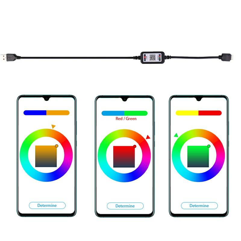 Bluetooth APP Control RGB Strip Light Sync with music 5m