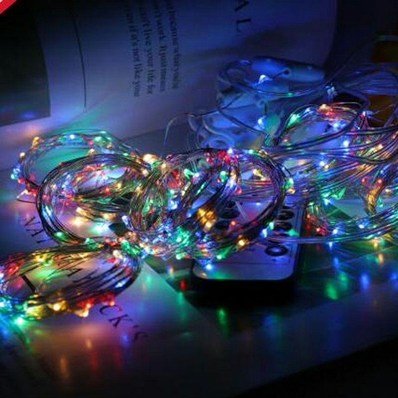 300 LEDs Curtain Fairy Lights String Wedding Party Decor 8 Modes - Colorful Light