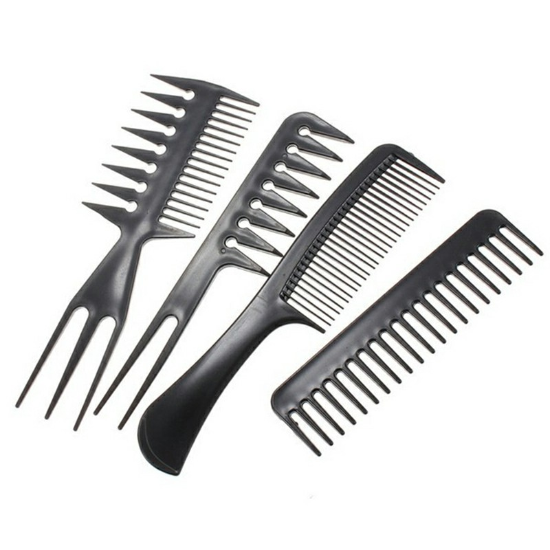 10pcs Hair Styling Comb Set Professional Black Hairdressing Brush Barbers