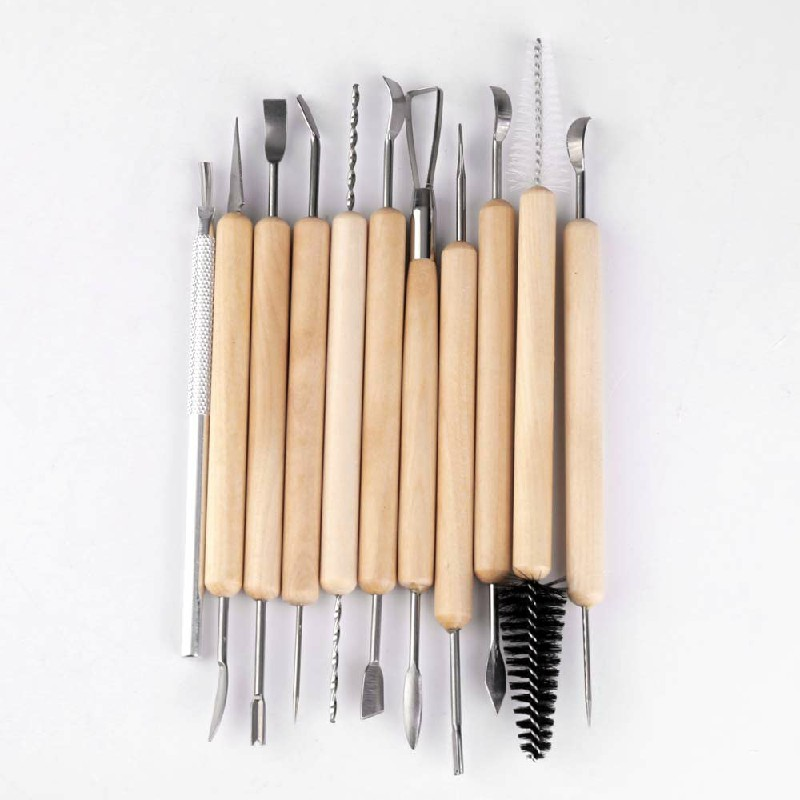 11pcs Kit Polymer Clay Sculpting Pottery Carve Tools