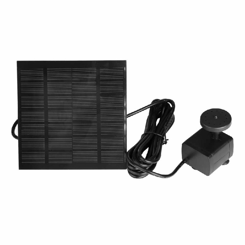 Solar Panel Powered Water Feature Plants Pump Fountain