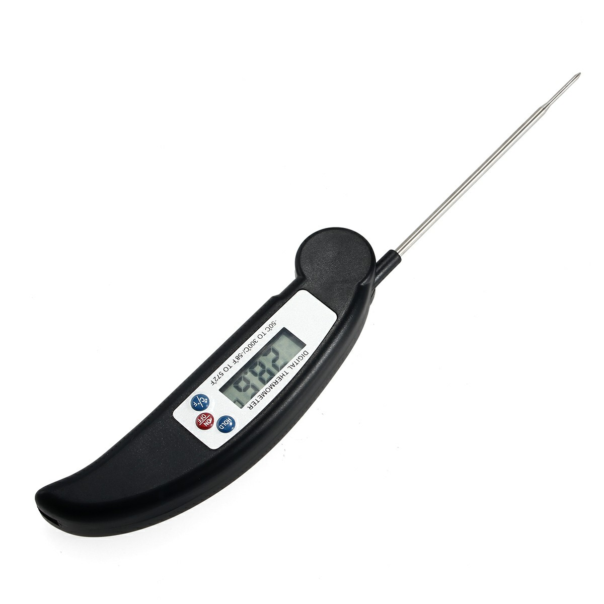 Digital Food Thermometer Probe for BBQ Meat Turkey Jam - Black